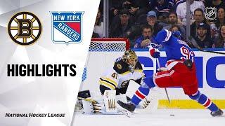 Nhl Highlights | Bruins @ Rangers 10/27/19