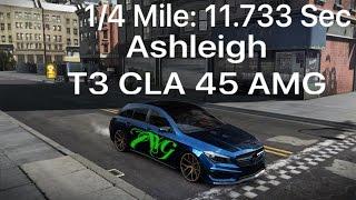 CSR Racing 2 T3 Ashleigh's CLA 45 AMG 1/4 Mile 11.733 Sec