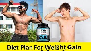 Hindi | Diet plan for weight gain | वजन बढ़ाने के लिए डाइट प्लान |  Abbzorb Nutrition | 2019