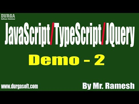 JavaScript/TypeScript/JQuery tutorial || Demo - 2 || by Mr. Ramesh On 28-11-2019 thumbnail