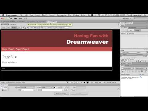 Dreamweaver & HTML 5 for Beginners
