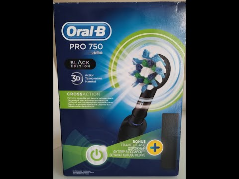Електрична зубна щітка ORAL-B Braun Pro 750 Black (4210201219224)