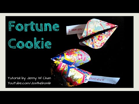 Valentine's Day Crafts - How to Make a Paper Fortune Cookie - Origami Paper Crafts
