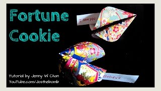 Valentine's Day Crafts - How To Make A Paper Fortune Cookie - Origami Paper Crafts For Kids