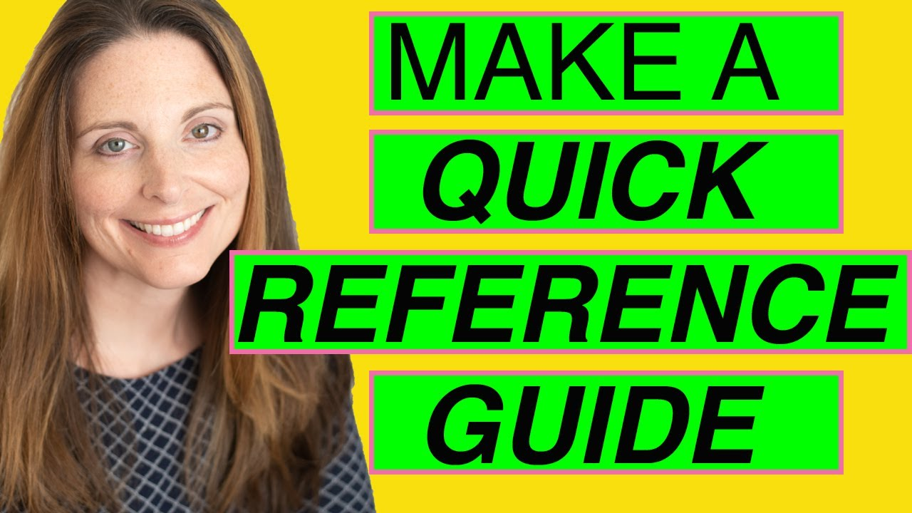 Make a Quick Reference Guide in Word (Create Software Training Guides with Screenshots)