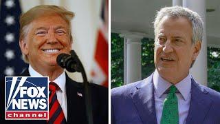 Trump trolls de Blasio after NYC mayor drops 2020 bid