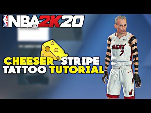 nba-2k20-how-to-get-the-cheeser-stripe-tattoo-how-to-look-like-a-cheeser-cheesy-tattoo-tutorial