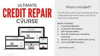 Ultimate Credit Repair Course Affiliate Program Overview