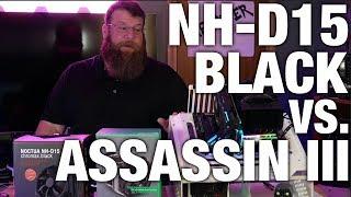 Noctua NH-D15 Chromax Black VS DeepCool Assassin III