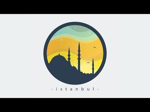 Photoshop Tutorial Flat Style Illustration | Istanbul