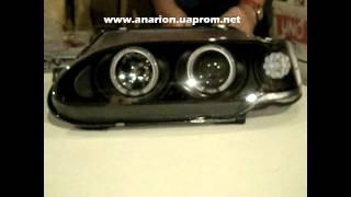 Передние фары на ВАЗ 2115 Ангельские глазки