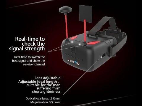 Resultado de imagen de Eachine VR D2 5 Inches 800*480 40CH Raceband 5.8G Diversity FPV Goggles with DVR Lens Adjustable