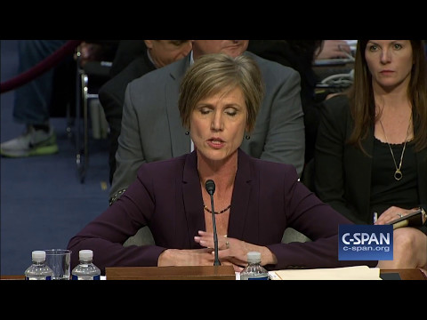 Sally Yates says National Security Adviser could be blackmailed by Russians (C-SPAN)