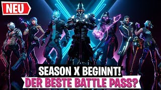 The BEST BATTLE PASS? Season X Skins | Fortnite German