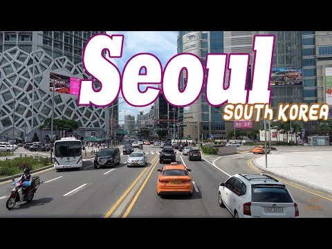 Seoul South Korea 4K .City - Sights - People