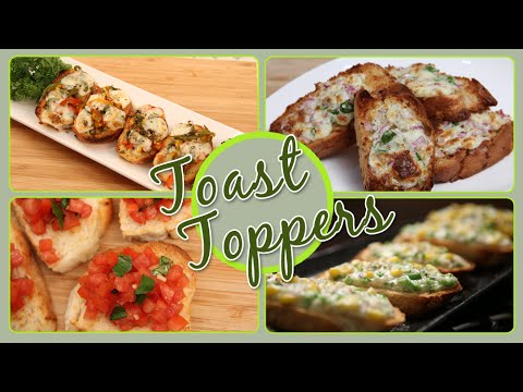 Toast Toppers | Quick & Easy To Make Snacks / Party Appetizer Recipes