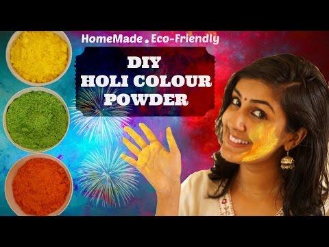 DIY Holi Colours    Eco-Friendly    Easy-To-Make