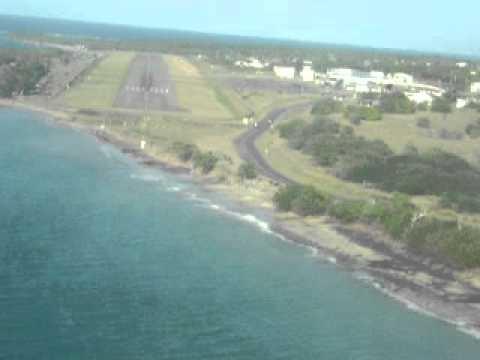 Nevis airport landing