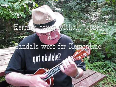 CLEMENTINE for the UKULELE - UKULELE LESSON / TUTORIAL by