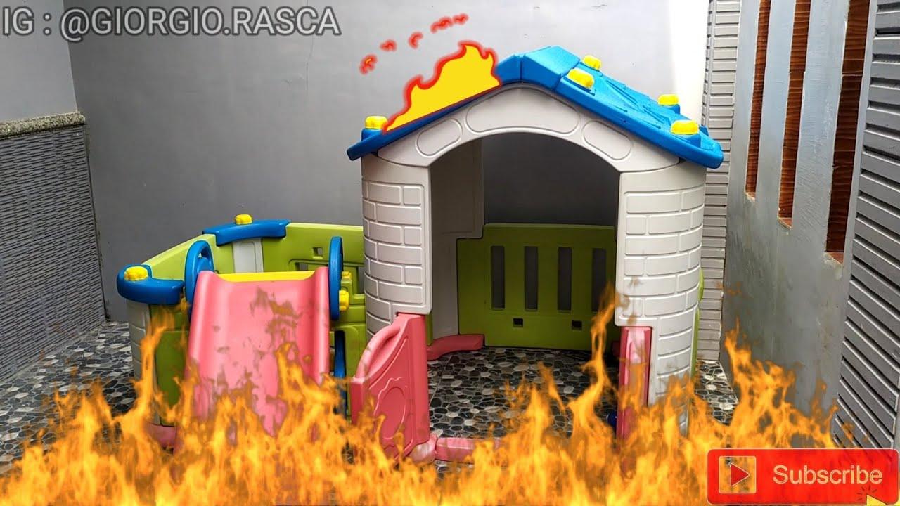 GIO ❤ MAINAN RUMAH RUMAHAN PEROSOTAN KEBAKARAN - PLAYHOUSE FIRE