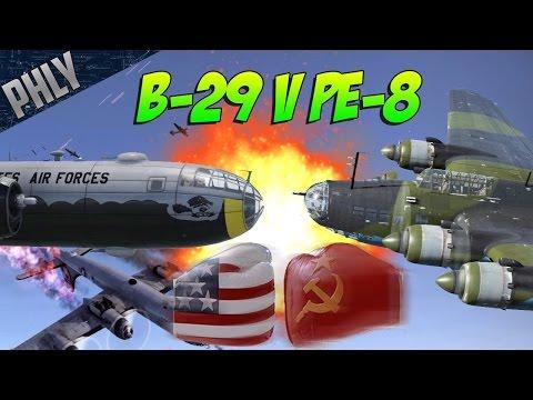 PE-8 RUSSIAN DEATH STAR VS B-29 FREEDOM! War Thunder Epic Battle!
