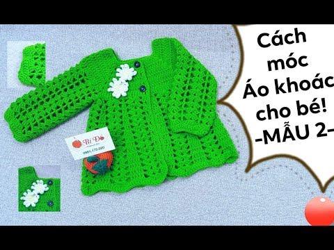 Hướng Dẫn Móc áo Khoác Cho Bé Họa Tiết Sò Size 6 đến 12 Tháng -MẪU 2- Bí Đỏ Handmade Shop