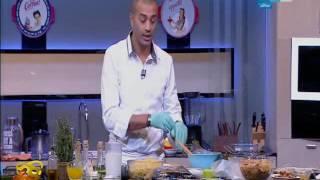 لقمة هنية : طريقة عمل صدور دجاج بصوص التركي المدخن- كسدية بالجبنة والزيتون- ام علي بالمكسرات