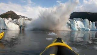 """""""قدر ولطف"""".. شاهد نجاه 3 مغامرين بعد انهيار كتلة من الجليد فى ألاسكا - اليوم السابع"""
