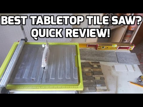 Best Tabletop Tile Saw? Quick Review on this Ryobi Tile Saw!
