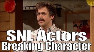 snl bloopers actors breaking character compilation part 1