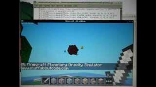 Raspberry Pi - Minecraft - Planetary Gravity Simulator