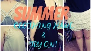 Summer Clothing Haul & Try On | Forever 21 & JC Penny