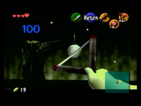 how to use hookshot ocarina of time