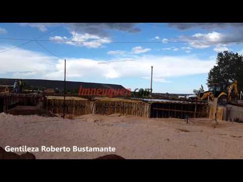 Por segunda vez, un temporal arrasó con la obra del puente en Rincón de los Sauces
