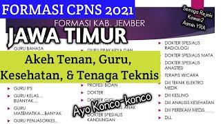Formasi Cpns 2021 Jawa Timur