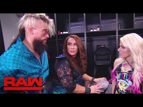 Enzo Amore checks on Nia Jax: Raw, Jan. 15, 2018