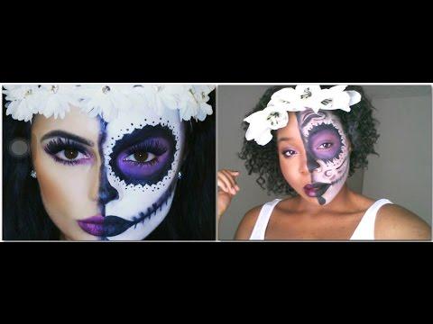 sugar skull makeup tutorial easy halloweeninspobnl