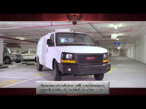 Armored Bulletproof GMC Savana-  Cash in Transit Vehicles Colombia Spain Uganda Poland Iraq