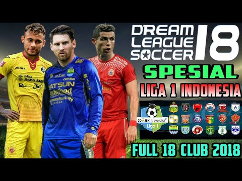 Download Dream League Soccer 18 mod Gojek Bukalapak Liga 1 Indonesia Full 18 Club 2018