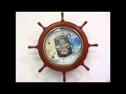 Rhythm Time Trip Musical Magic Motion Clock - Wooden Helm Case - 30 Songs
