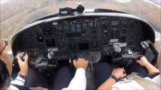 Cockpit camera Citation V - IFR from KDXR to KHPN