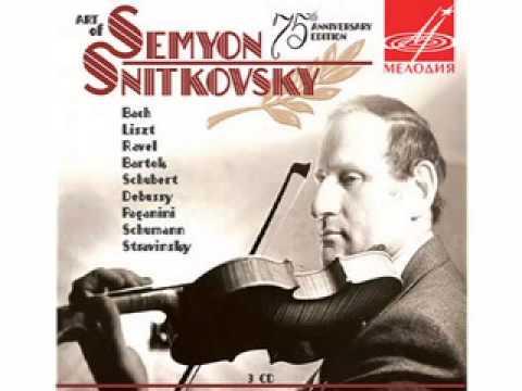 Eugen Ysaye Sonata No.3 Ballade. Semyon Snitkovsky