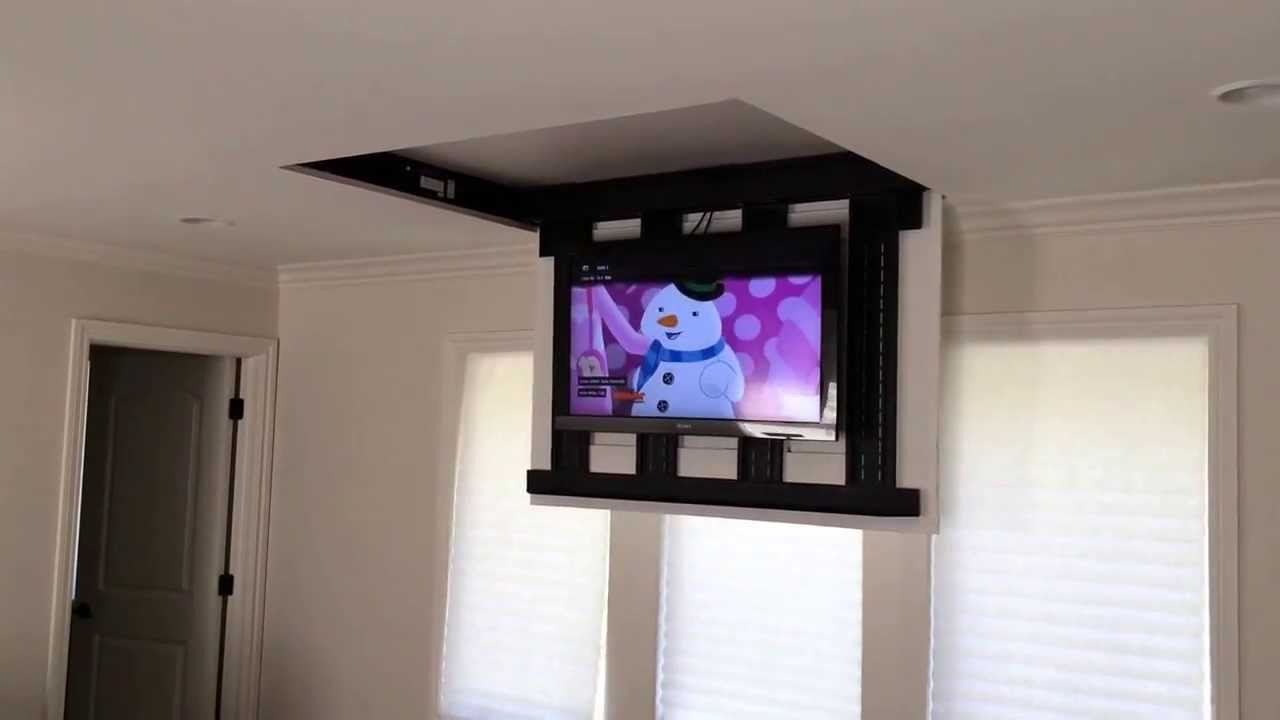 Motorized fully automated Flipdown ceiling TV lift 4660