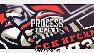 Process Drawing of Sport Logo- Витязь (Knight)