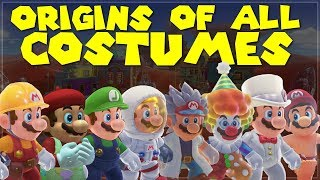 The ORIGINS of COSTUMES in MARIO ODYSSEY! - VG Mindblows