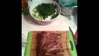 Салат из фасоли и сухариков!