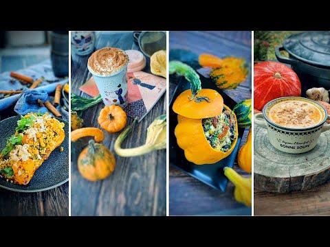 🍂🎃4-recettes-d'automne-à-la-courge,-potiron-healthy-et-gourmandes-🍂🍂