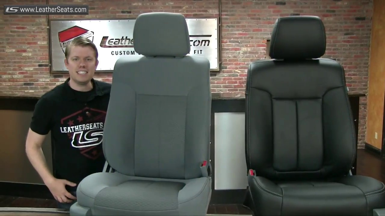 2011 ford f150 supercrew custom leather seat upholstery kit leatherseats com [ 1280 x 720 Pixel ]