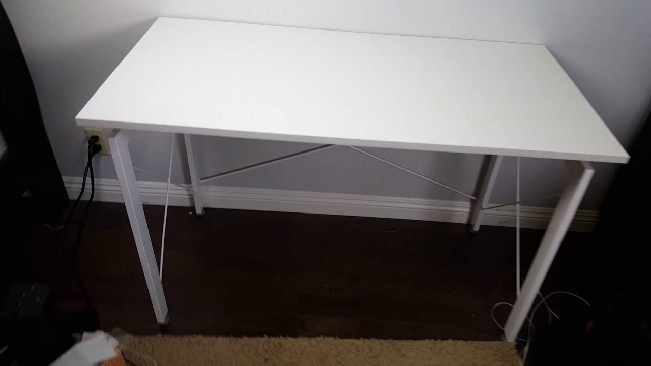 Homcom White Modern Computer Desk Review Nice Sleek