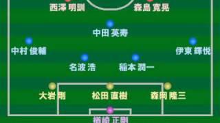 サッカー日本代表 歴代フォーメーション